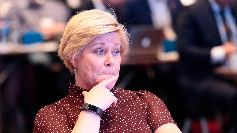 Miliardowe braki w państwowej kasie: Na zdjęciu minister finansów Norwegii Siv Jensen