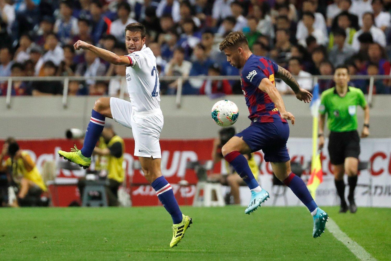 Philippe Coutinho (til høyre) forlater Barcelona og leies ut til Bayern München. Foto: Shuji Kajiyama, AP / NTB scanpix
