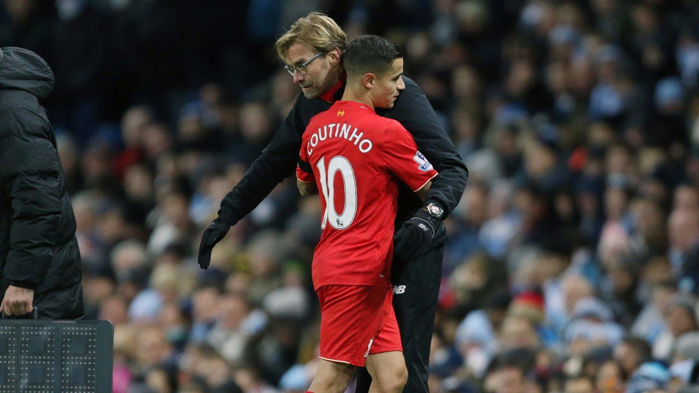 GODT FORHOLD: Jürgen Klopp og Coutinho jobbet sammen i Liverpool.