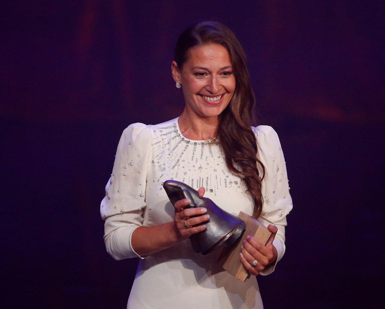Pia Tjelta ble lørdag kåret til beste kvinnelige skuespiller under Amanda-utdelingen for innsatsen i filmen «Blindsone». Nå kan filmen også få nordisk heder. Foto: Jan Kåre Ness / NTB scanpix