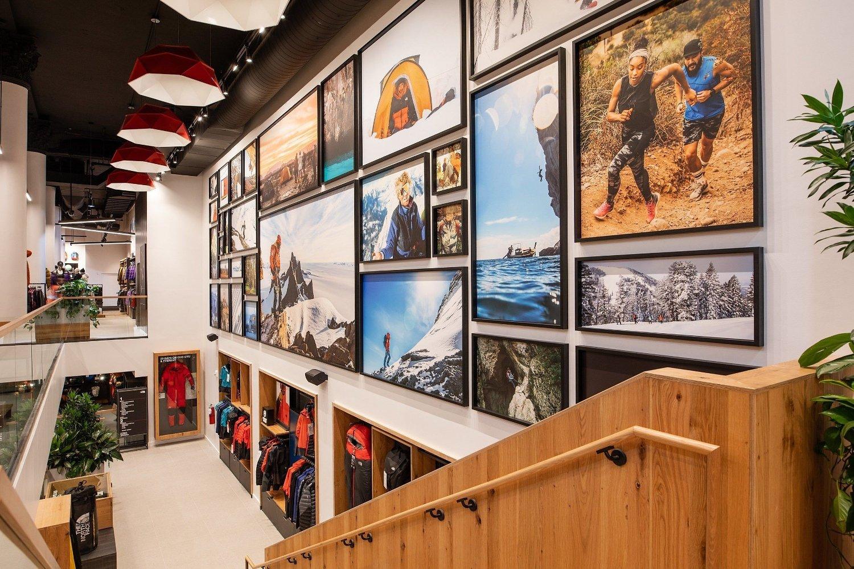 The North Face satser på at det å handle i butikken skal være en opplevelse, med utgangspunkt i informasjon, fakta og hva den besøkende i butikken faktisk skal gjøre.