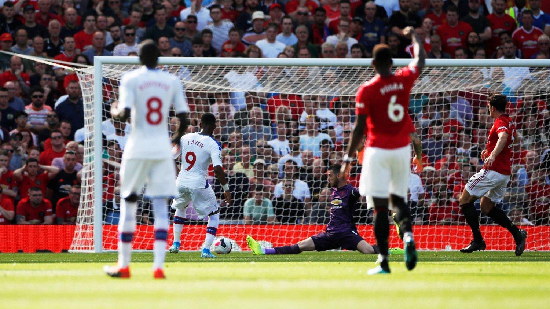 MÅL: Jordan Ayew sendte Crystal Palace i føringen mot United.