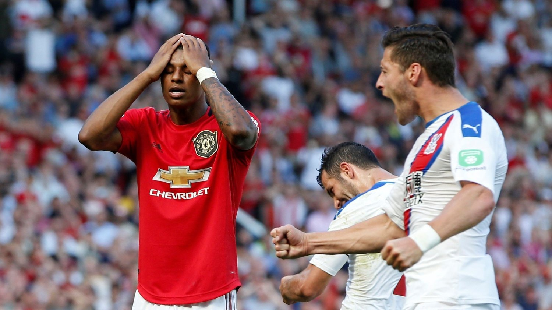 FORTVILELSE: Marcus Rashford er oppgitt etter å ha brent Manchester Uniteds andre straffespark på to kamper.