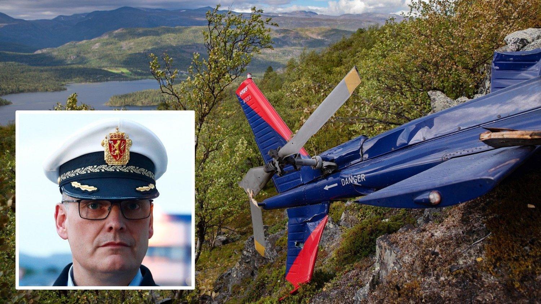 ULYKKE: Lensmann Øyvind Lorentzen forteller at hvor langt de kommer med undersøkelser i dag er avhengig av værforholdene.