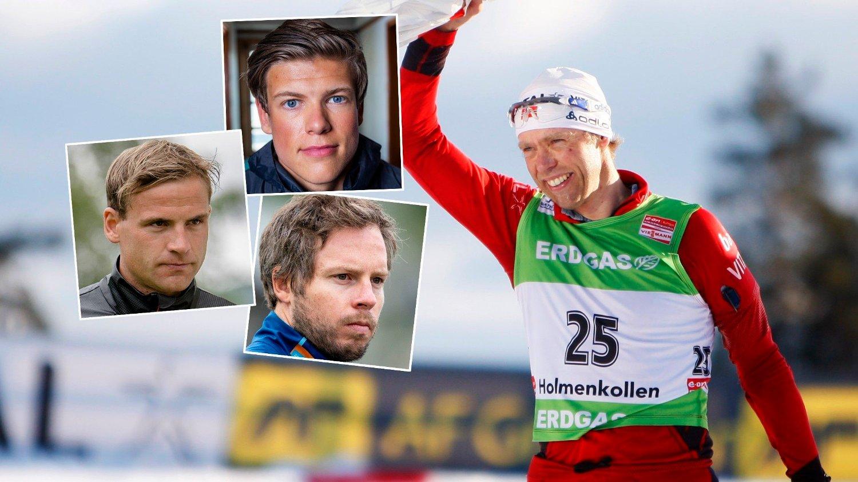 PREGET: Det norske langrennslandslaget husker Halvard Hanevold som en strålende idrettsutøver.