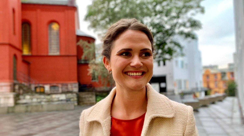 STØRST: Kari Nessa Nordtun (Ap) var spent da Nettavisen møtte henne kort tid før valglokalene stengte. Nå blir etter alt og dømme Arbeiderpartiet Stavangers største parti.