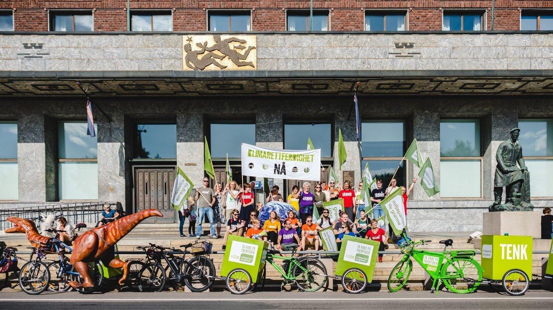 HIPSTERPARTIET: De bydeler i indre Oslo er kjernen i velgerbasen til Miljøpartiet De Grønne. Her fra klimamarsjen.