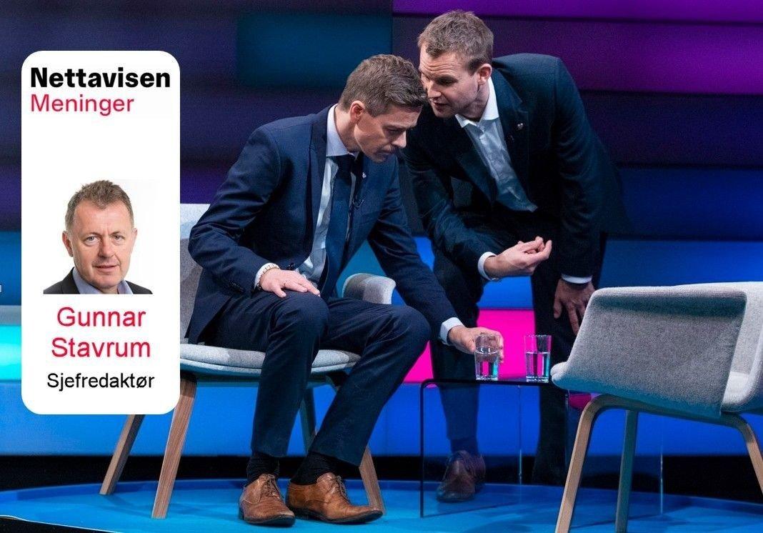 POLITISK MAKTKAMP: Det knallharde oppgjøret mellom Kristelig Folkepartis leder Knut Arild Hareide og Kjell Ingolf Ropstad minner mer om maktkamp enn om kristen nestekjærlighet.