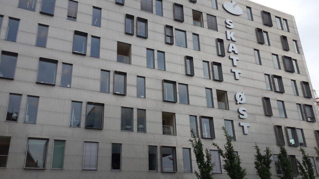 Fasade av bygningen til Skatt øst i Oslo.