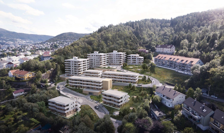 NYE BOLIGER: OBOS skal bygge 160 leiligheter i Nye Vågedalen.