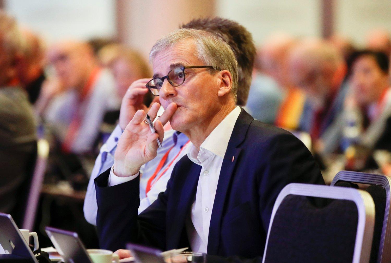 INNTEKTSRAS: Ap-leder Jonas Gahr Støres inntekt har falt fra 2,7 til 1,1 millioner kroner fra 2017 til 2018.