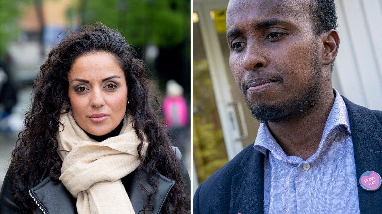 Dana Æ. Manouchehri og Abdirahman Diriye.