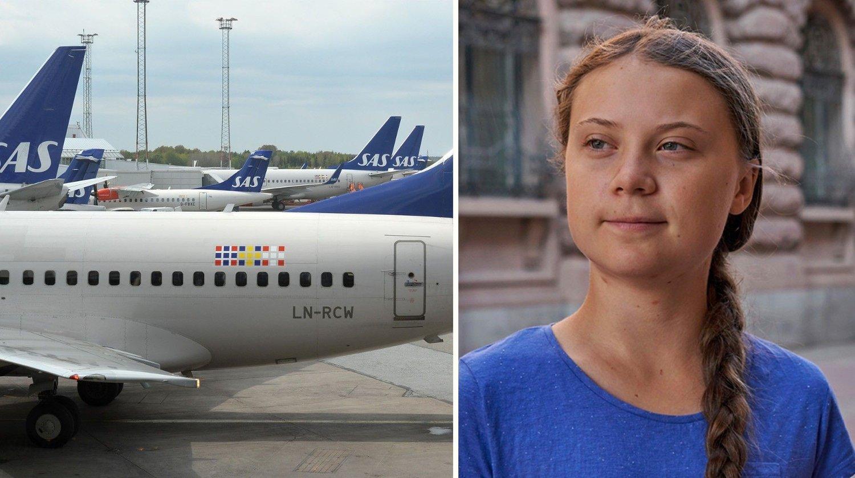 FLYRAS: De svenske flytallene kollapser, trolig til glede Greta Thunberg.