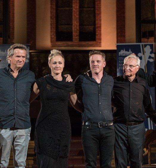 Kjetil Bjerkestrand med Roggen, Moen og Tellefsen.