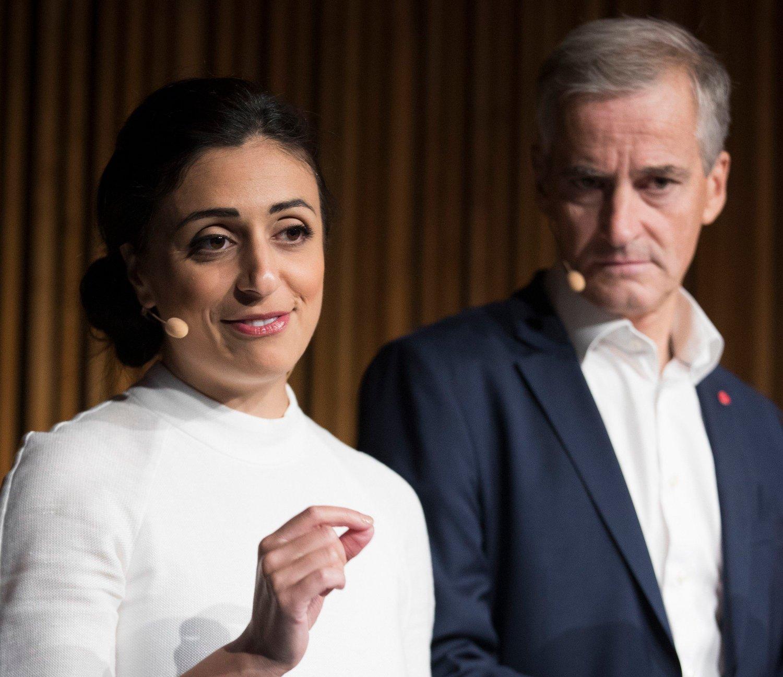 Bilde av partileder Jonas Gahr Støre og nestleder Hadia Tajik.