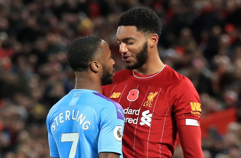 I KRANGEL: Denne krangelen med Joe Gomez skal ikke Raheem Sterling ha klart å legge bak seg til samlingen med England.
