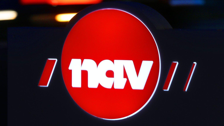 Oslo 20191104. NAV logoer i mørket.