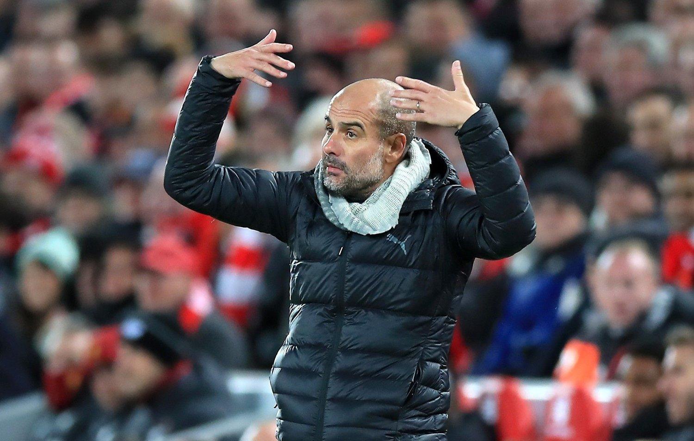 VAR RASENDE: Manchester City-manager Josep Guardiola.