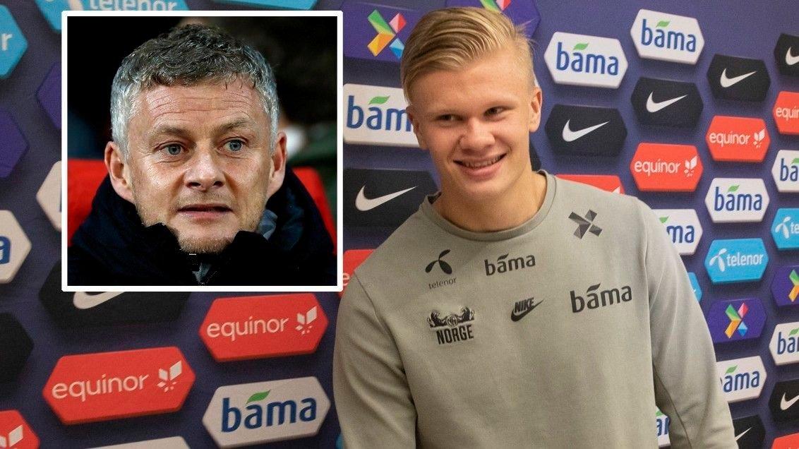 KOBLES TIL UNITED: Erling Braut Haaland skal være på blokka til Ole Gunnar Solskjær og Manchester United.