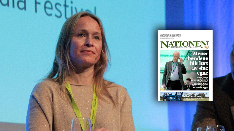Sjefredaktør Irene Halvorsen i Nationen.