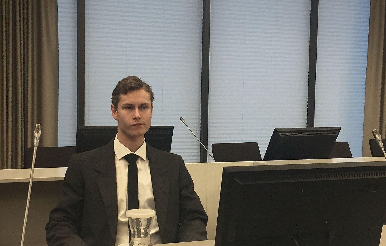 Philip Manshaus i Asker og Bærum tingrett torsdag 14.11.19 i forbindelse med behandling av sak om at politiet har tatt heft i verdier på fem millioner kroner.