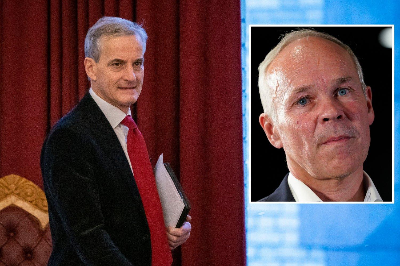 UT MOT STØRE: Ap-leder Jonas Gahr Støre og Høyres nestleder Jan Tore Sanner er uenig om oljefondet skal være et politisk verktøy eller ikke.