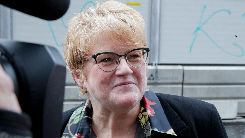 RETUR: Venstre-leder Trine Skei Grande drar hjem tidligere enn forventet fra Island.