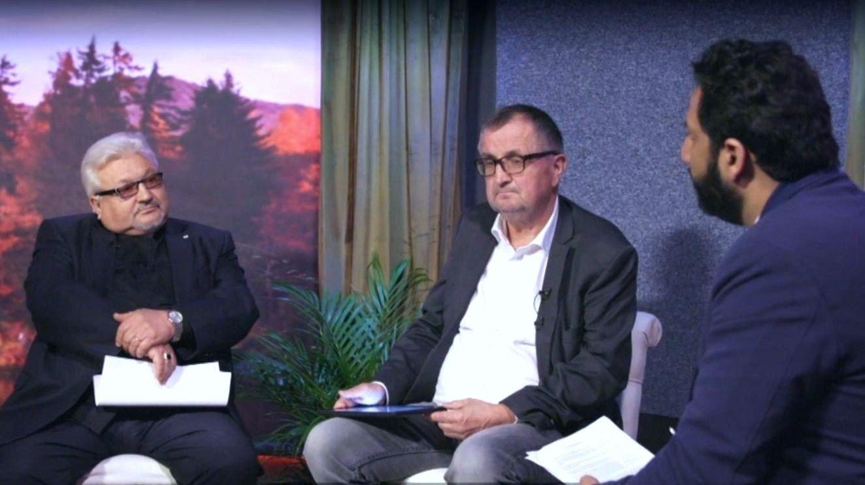 AVVISER ANKLAGER: Rektor Arne Pedersen i Visjon Norge, og den polske pastoren Maksymillian Pyra, avviser anklager om menneskehandel i intervju med TV 2s Kadafi Zaman.