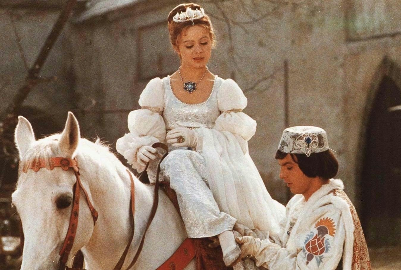 Libuse Safrankova i den tysk-tsjekkoslovakiske filmen om eventyret om Askepott.