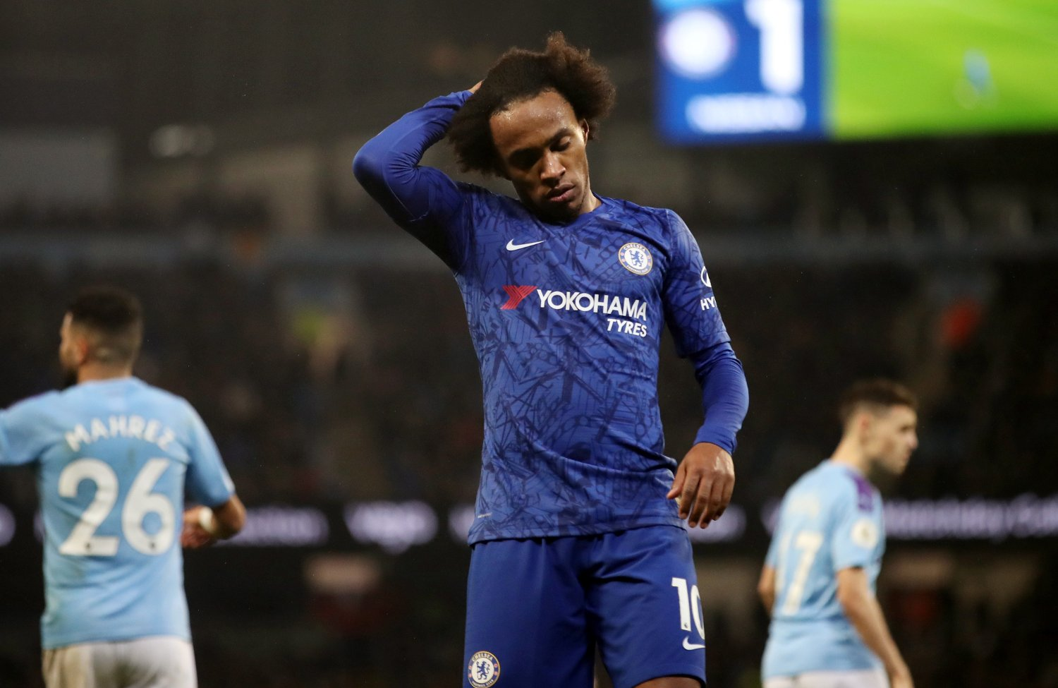 Soccer Football - Premier League - Manchester City v Chelsea - Etihad Stadium, Manchester, Britain - November 23, 2019 Chelsea's Willian reacts Action Images via Reuters/Carl Recine EDITORIAL USE ONLY. No use with unauthorized audio, video, data, fixture lists, club/league logos or