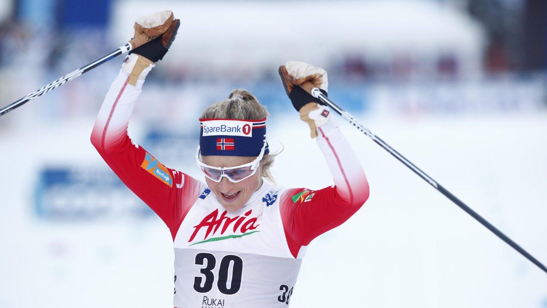 VANT: Therese Johaug var helt suveren på 10 km klassisk i Ruka.
