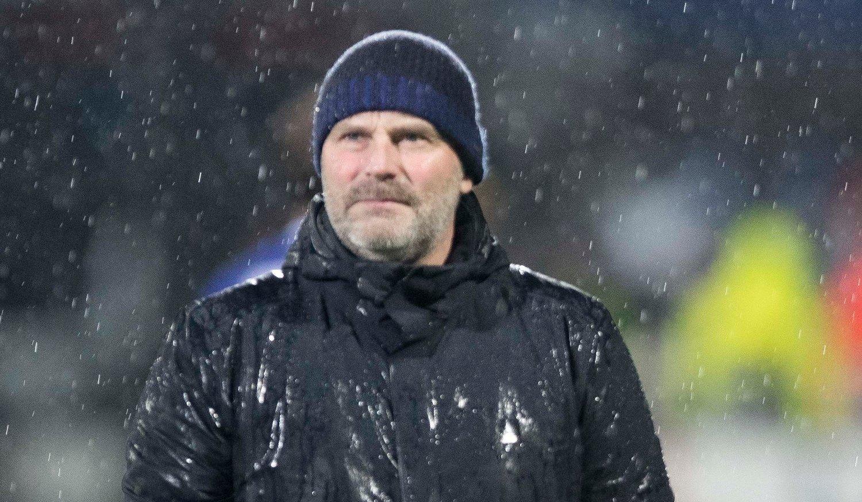 HAR TROEN: Sarpsborg-trener Geir Bakke tror fortsatt det er sjanser for å gå videre fra gruppespillet i Europa League.