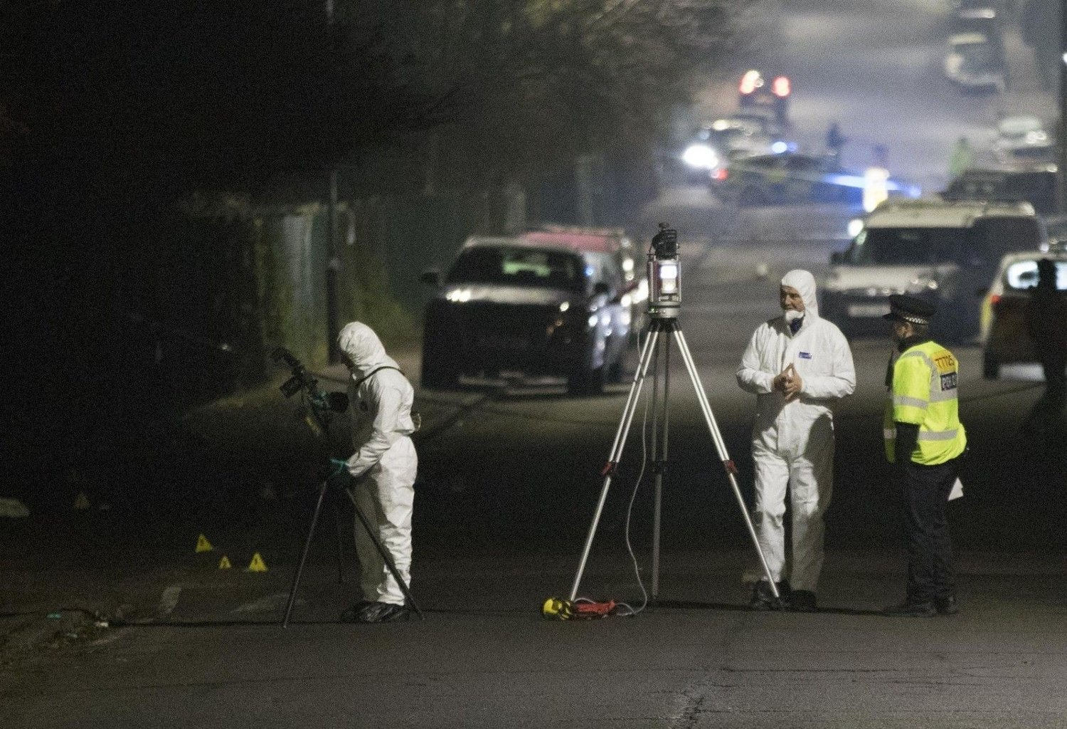 Hit and run outside Essex school Forensic Officers in Willingdale Road near Debden Park High School, in Loughton, Essex, after a murder investigation was launched after a 12-year-old boy was killed when a car crashed into children. Police are searching for a silver Ford Ka believed to have been involved in the fatal collision