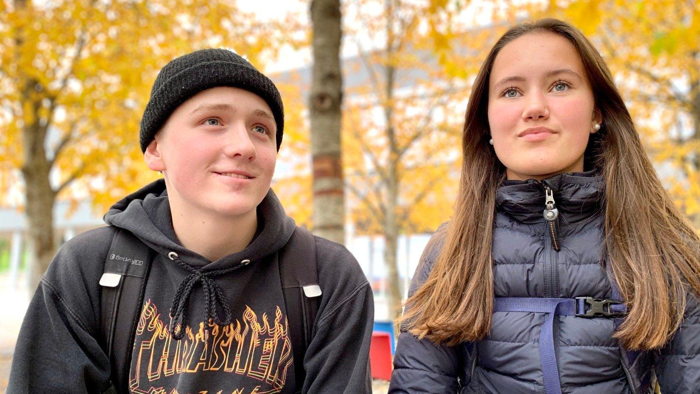 Elias Kristiansen og Una Lilleeidet Nilsen går i 9. klasse på Kristianslyst skole i Stavanger. De er bekymret for klimaendringene og vil ha mer klima inn i skolen.