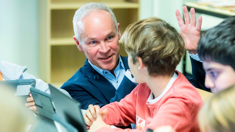 I november la Kunnskaps- og integreringsminister Jan Tore Sanner fram nye læreplaner i skolen. Her fra Smedstad skole i Oslo.