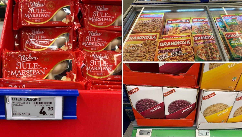 PRISENE RASER: Det går skikkelig unna i dagligvarehyllene for tiden. Her er noen av varene som er blitt mye billigere.