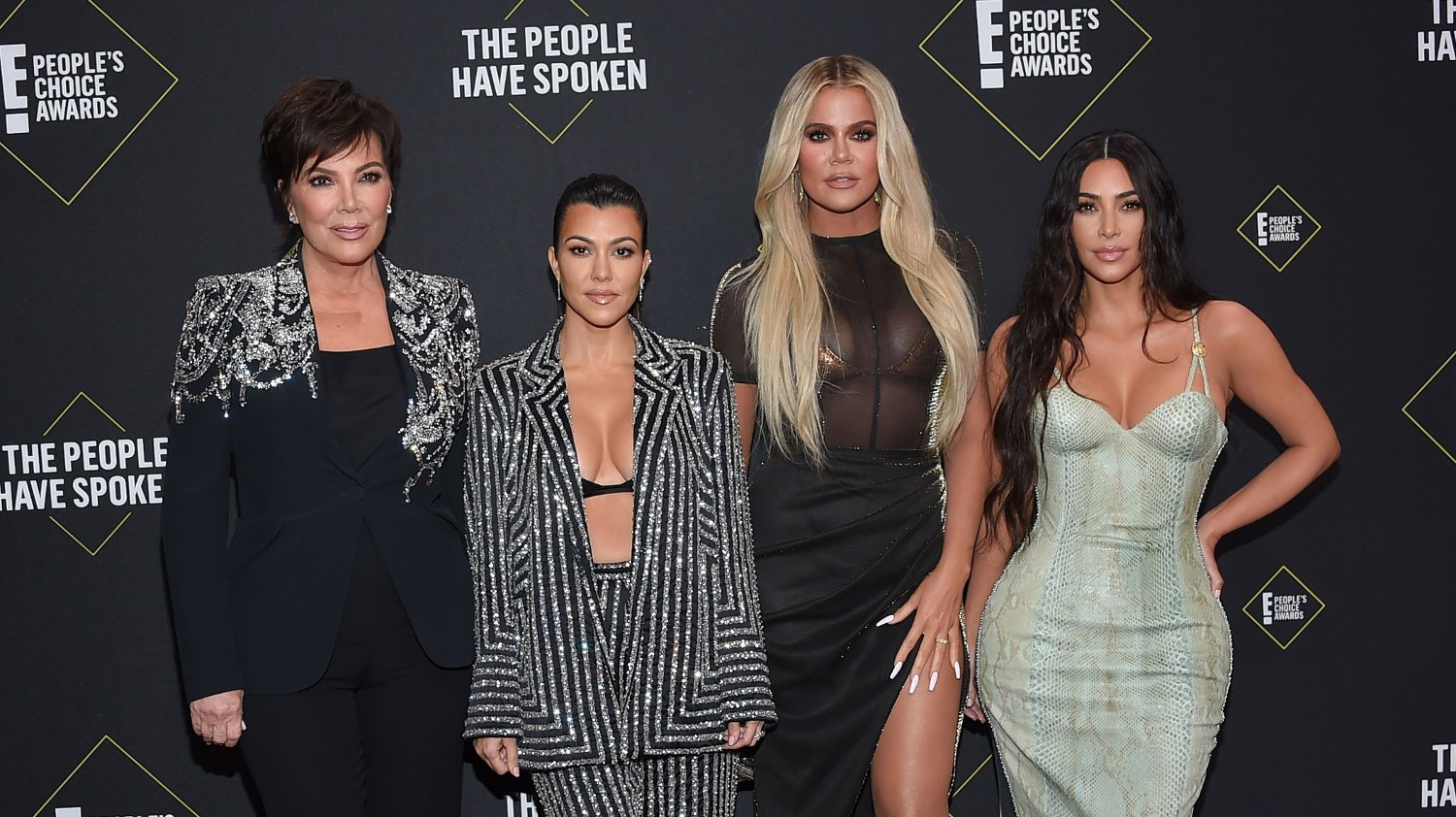 Kris Jenner, Kourtney Kardashian, Khloe Kardashian and Kim Kardashian at the 2019 E! People's Choice Awards held at Barker Hanger on November 10, 2019 in Santa Monica,