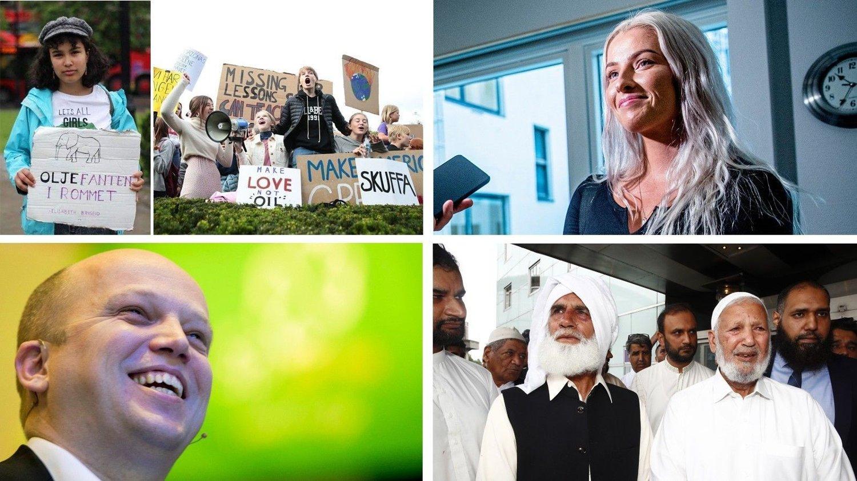 STEM PÅ ÅRETS NAVN I NETTAVISEN 2019: Klimastreikerne, Sofie Bakkemyr, Muhammad Rafiq eller Trygve Slagsvold Vedum. Les begrunngelsene i artikkelen.