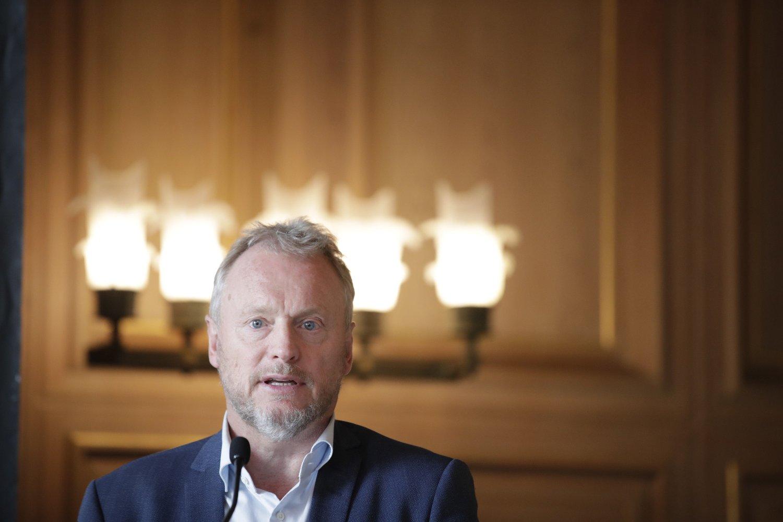 Oslo 20190925. Byrådsleder Raymond Johansen møter pressen på Rådhuset etter presentasjonen av budsjettforslaget for Oslo kommune 2020 og økonomiplan 2020-2023.