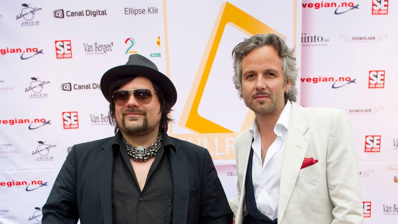 GODE VENNER: Ari Behn og Per Heimly på rød løper før Gullruten i Grieghallen i Bergen i 2011.