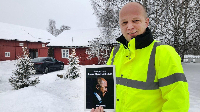ÅRETS NAVN 2019: Senterpartiets leder, Trygve Slagsvold Vedum, er Årets navn i Nettavisen.