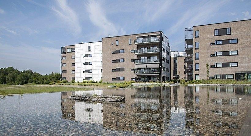 PRISOPPGANG: Obos-prisene steg i 2019, her fra boligprosjektet Koksabukta på Fornebu.