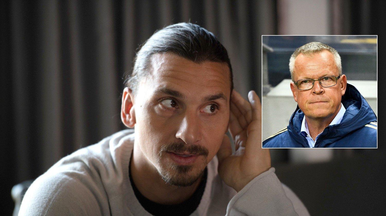 COMEBACK?: Den svenske landslagssjefen Janne Andersson åpner døren for Zlatan igjen.