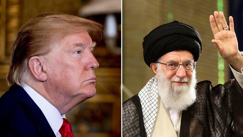 Donald Trump og ayatolla Ali Khamenei.