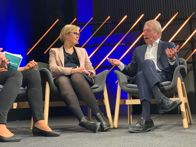 Jens Ulltveit-Moe deltok i oljedebatt under Trøndelagsmøtet i Stjørdal 9. januar. 2020.