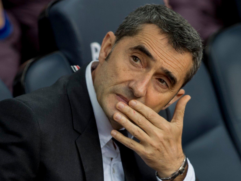 FINITO: Barcelona og Ernesto Valverde skilles.
