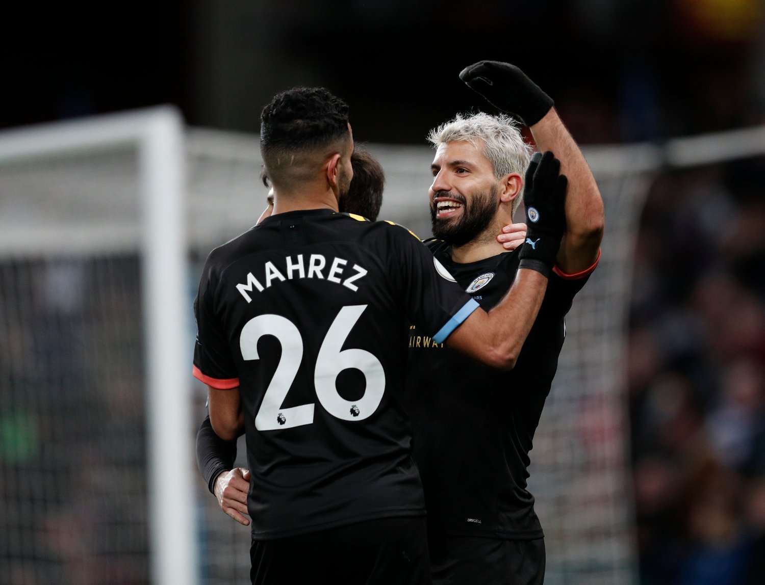 Sergio Aguero of Manchester City celebrates scoring his third and CityÕs sixth during the Premier League match at Villa Park, Birmingham. Picture date: 12th January 2020. Picture credit should read: Darren Staples/Sportimage via PA Images