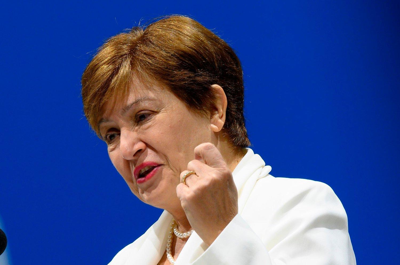 RUGLETE: Det internasjonale pengefondet med Kristalina Georgieva i spissen er ikke spesielt bekymret for verdensøkonomien.