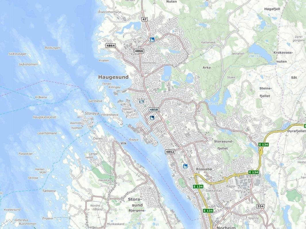 Ferden endte i krysset Skjoldavegen/Rogalandsvegen i Haugesund.