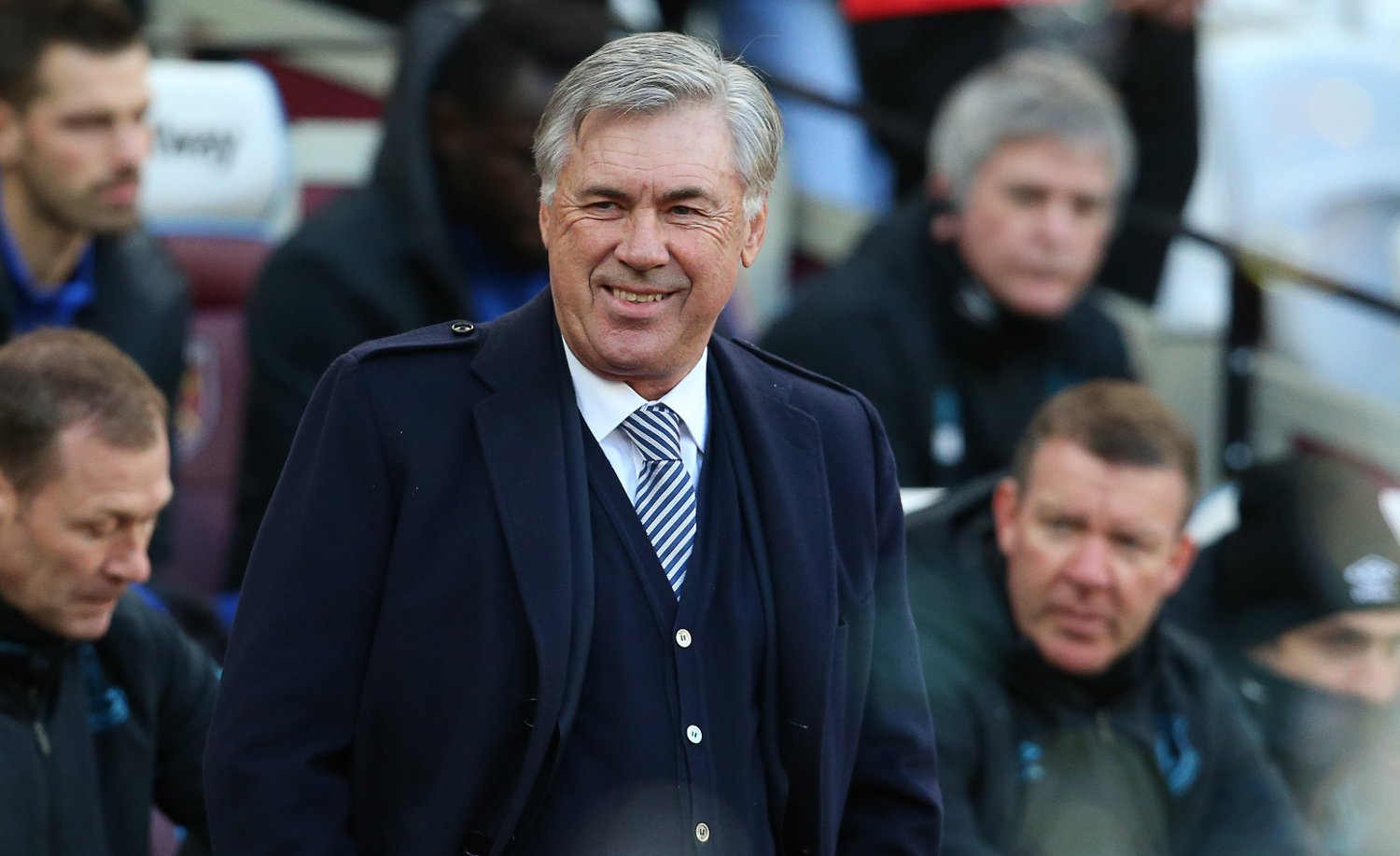 EvertonÕs manager Carlo Ancelotti during the Premier League match at the London Stadium, London. Picture date: 18th January 2020. Picture credit should read: Paul Terry/Sportimage via PA Images